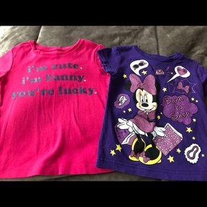 Lot of 2 Shirts, Size 2T (Carter's & Disney)